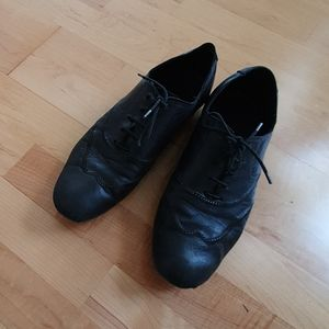 Emporio Armani Black Soft Leather Dress Shoes 42M